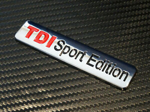 Metal-VW-TDI-SPORT-EDITION-insignia-emblema-golf-GTI-Caddy-Bora-Polo-Lupo-MK4-mk5