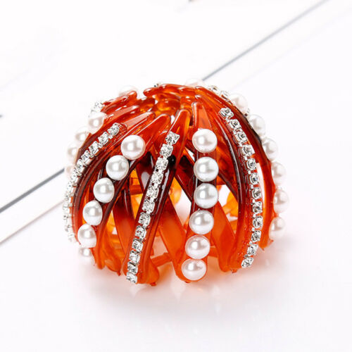 Pearl Nest Shape Ponytail Holder Hair Claw Clamp Clips Lady Women Fashion Tool