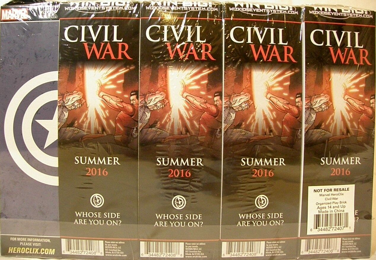 Heroclix Sellado Brick  Guerra Civil  Marvel 5 figura Booster Pack X 8 + Paquete Premio