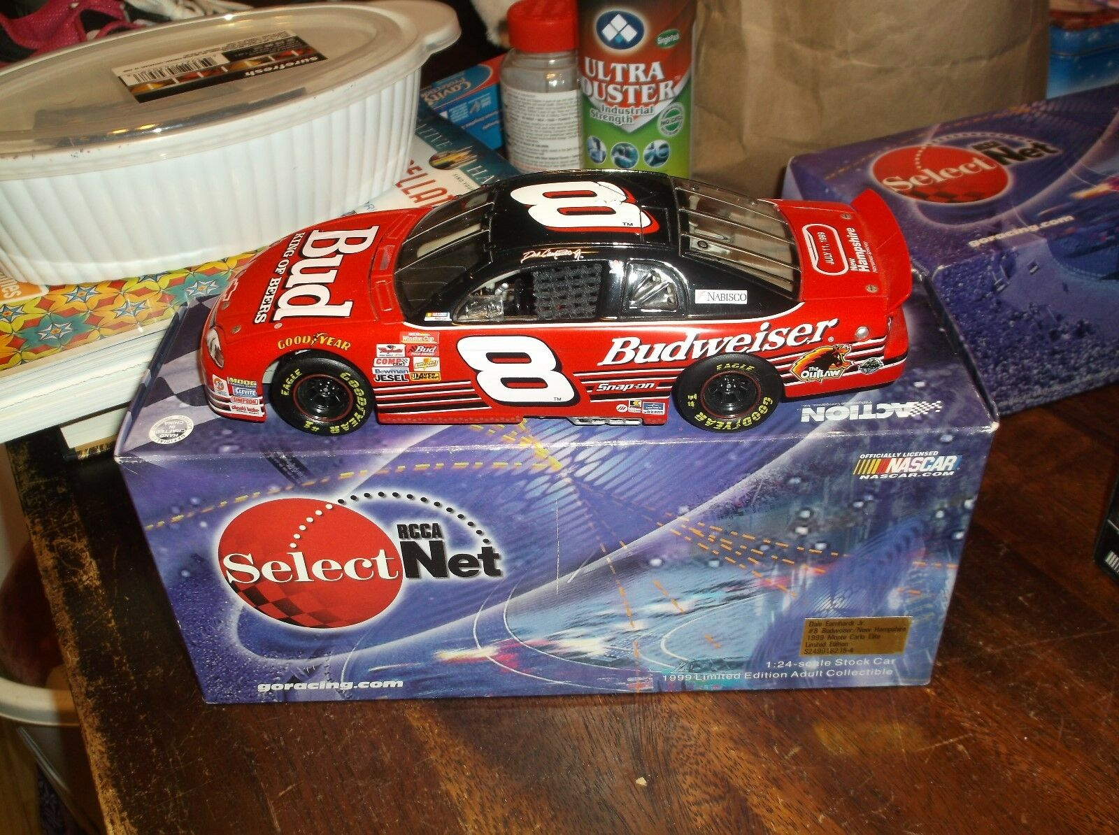Rare 1999 Dale Earnhardt Jr 8 Budweiser 1 24TH Scale Diecast Racing Collectables Club of America Net Elite