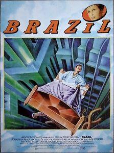 BRAZIL-Affiche-Cinema-Pliee-53x40-Movie-Poster-TERRY-GILLIAM-R1990