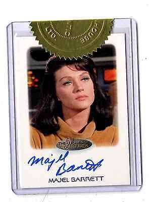 Woman of Star Trek Majel Barrett auto card