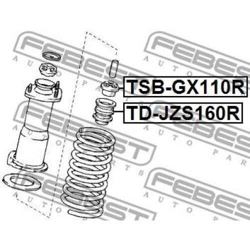 FEBEST Shock Absorber TD-JZS160R