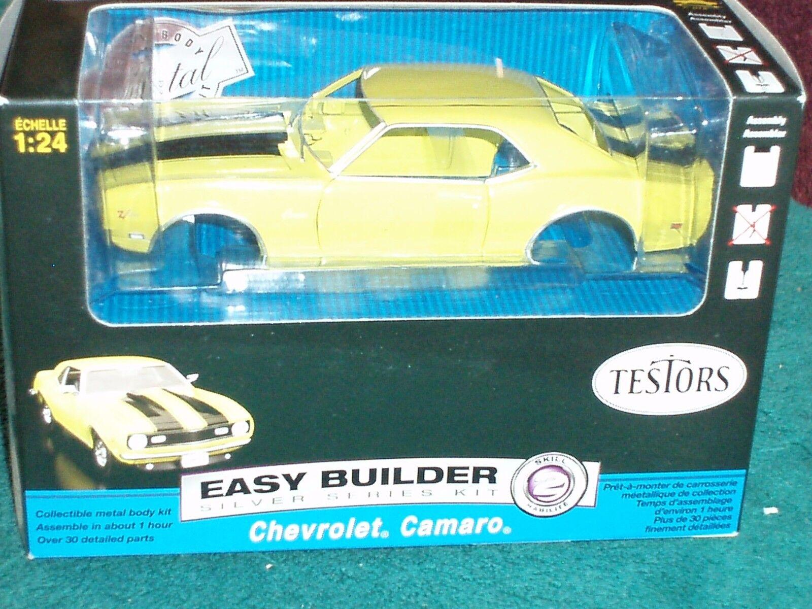 Testors 1969 Chevy Camaro Ss Kit de montaje Amarillo 1 24 nivel de habilidad 2 Sellado