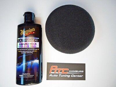 Meguiars DA Power Pack Polier Pad + Politur Ultimate Liquid Wax / Wachs G3503int