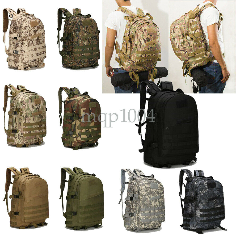 46L Sport Outdoor Military Rucksacks Tactical Molle Backpack Camping H... - s l1600