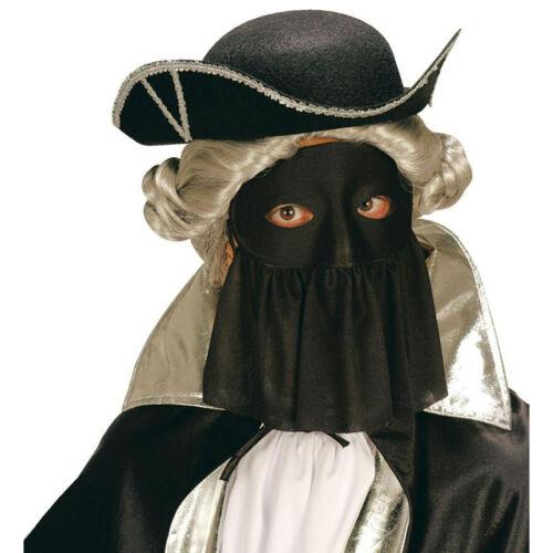 Baroque ballmaske Vénitien Masque Avec Voile Noir Yeux Masque Bal Masqué
