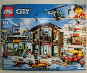 LEGO-60203-City-Ski-Resort-Complete-Building-Kit-Playset-Snow-Toy-New-Sealed