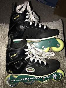 Mission-Hi-lo-Xi-Roller-Hockey-Inline-Skates-Rollerblades-Size-4