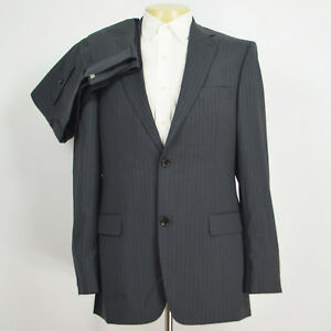 eebc5e16 Mint HUGO BOSS Pasolini/Movie Stretch Wool Gray 2Pcs Suit Flat Front ...