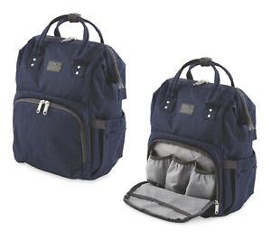 Baby-Changing-Back-Pack-NAVY-Bag-Stroller-Attachment-Change-Mat-Multi-Pocket