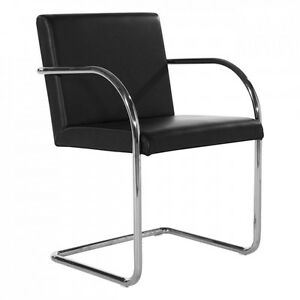 Mies Van Der Rohe Style Brno Chair Tubular Black Or Red Leather