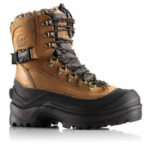 NIB-Sorel-Conquest-Boots-Men-039-s-Waterproof-Winter-Leather-Insulated-Bark-Pik-Size