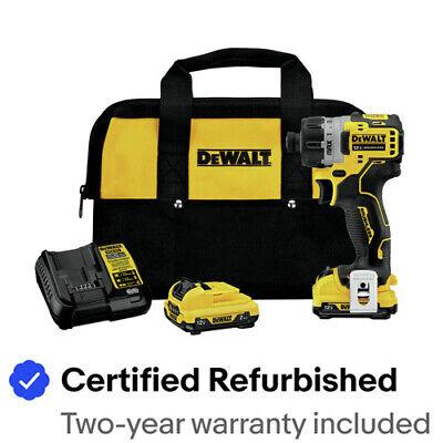 "DeWalt DCF801F2R XTREME 12V MAX 1/4"" Impact Driver Kit Certified Refurbished"