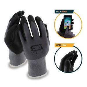 Better-Grip-Flex-BGFLEXMF-MicroFoam-Work-Gloves-Work-For-Smart-Phone-Gray