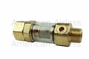 """Clear Bowl Water Inlet Filter 1//2/"""" MPT X 3//4 FGH"""