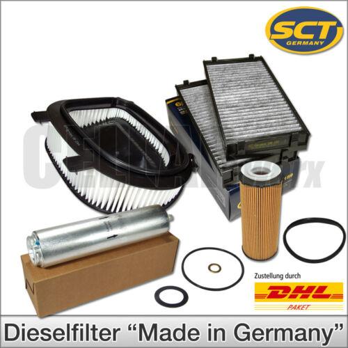 BMW x5 x6 e70 e71 xDrive 30d xDrive 40d4 pezzi inspektionskit FILTRI FILTRO