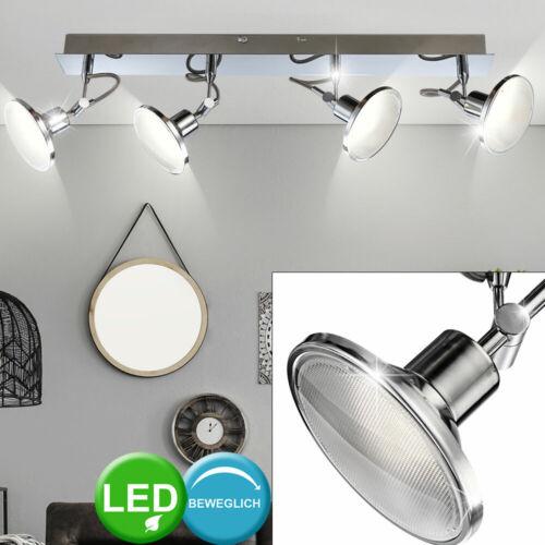 LED Decken Lampe Chrom Spot Leiste Arbeits Zimmer ALU Strahler Leuchte beweglich
