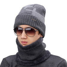 item 8 Unisex Casual Neck Warmer And Hat Set Knitted Beanie Soft Thickening  Hat Gift -Unisex Casual Neck Warmer And Hat Set Knitted Beanie Soft  Thickening ... d820d6725f12