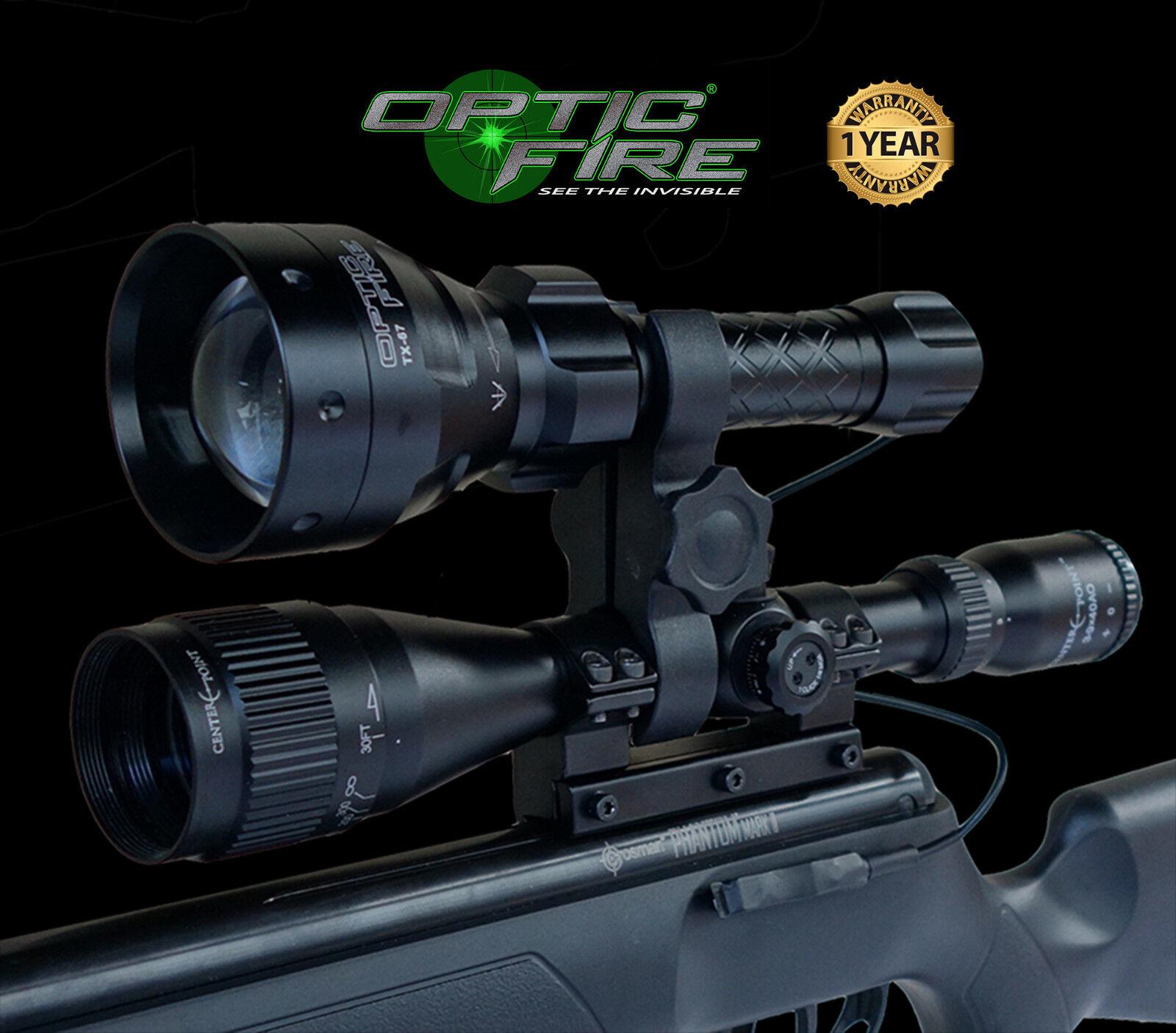 Opticfire® TX-67 T67 LED hunting lamp scope mount torch NV light lamping kit