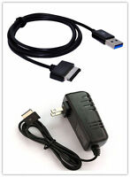 Ac Wall Charger Power Adapter & Usb Cable For Asus Eee Pad Tf101 Tf201 Sl101