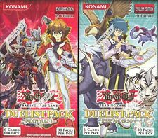 YUGIOH JADEN YUKI 3 JESSE ANDERSON BOOSTER BOX PAIR BLOWOUT CARDS