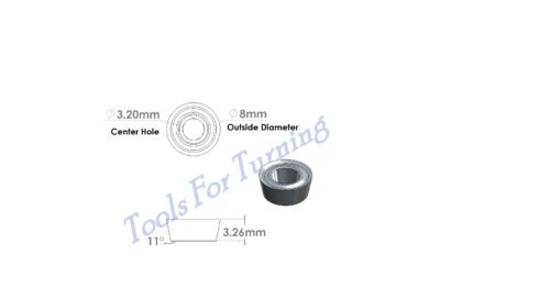 8 mm Round Hollow Ground Carbide Insert Cutter for Wood Turning