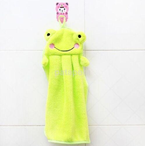 Baby Children Kids Hand Towel Soft Plush Cartoon Hanging Wipe Bathing Panda