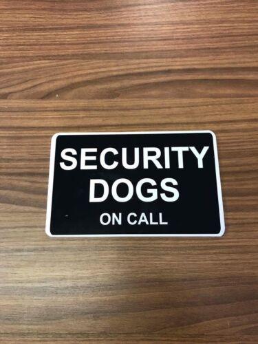 SECURITY DOGS Dog Handler K9 on call Dash Card car windscreen