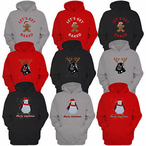 Mens-Christmas-Sweatshirt-Xmas-Hoodie-Top-Penguin-Gingerbread-Darth-Vader-Print