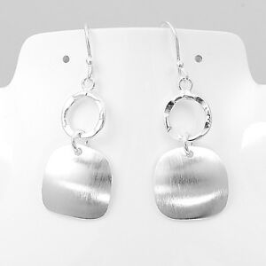 Artisan-Brushed-Silver-Earrings-from-Taxco-Mexico
