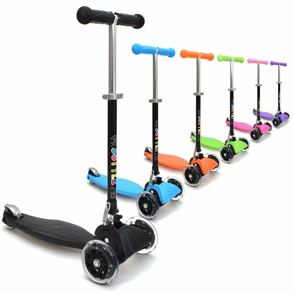 3 STYLE SCOOTER ® RGS1 Bambini Tre Ruote kick scooter in Neroperfetto F
