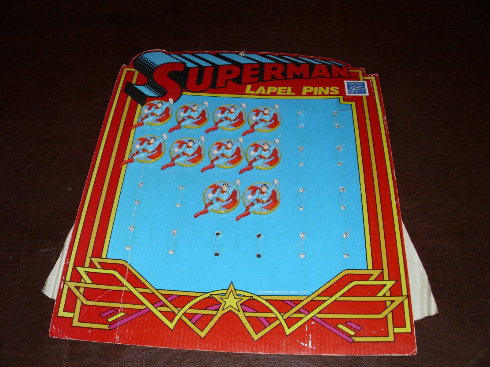 Vintage Superman Store Display Super Heroes Rare Superfriends DC Comic MOC 1987