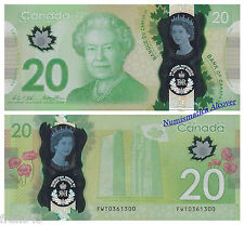 CANADA 20 Dollars dolares 2015 Commemorative  Polymer Pick NEW SC /  UNC