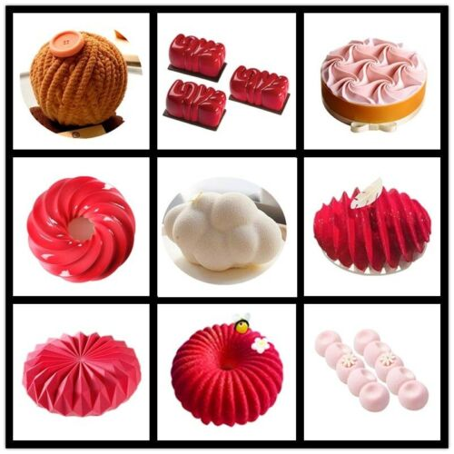 Cake Mousse Mold Baby Food Grade Silicone Soft 3D Crafts Dessert Making Tools