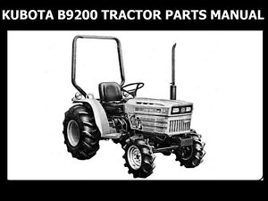 kubota b9200 tractor operations manual for b 9200 b9200hst rh ebay com kubota b9200 owners manual 9200 Tractor