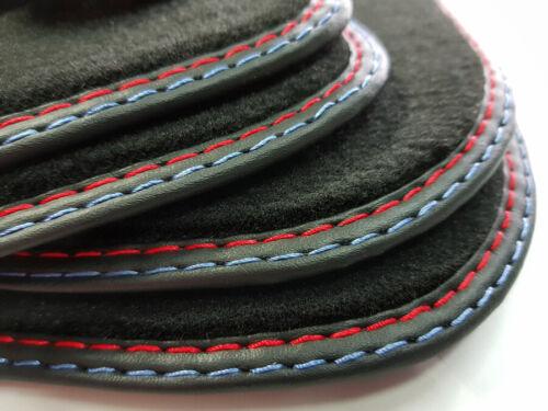 S-Line Velours Original Qualität ROT-BLAU Premium B8//8K Fußmatten AUDI A4