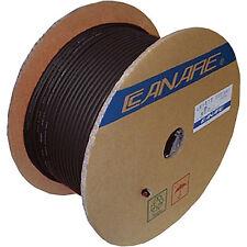 Canare L-4E6S Quad Balanced Microphone Cable Bulk Raw Unterminated Black - 10 ft