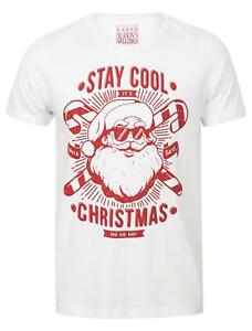 Seasons-Greetings-Mens-Stay-Cool-Novelty-Christmas-Xmas-T-shirt