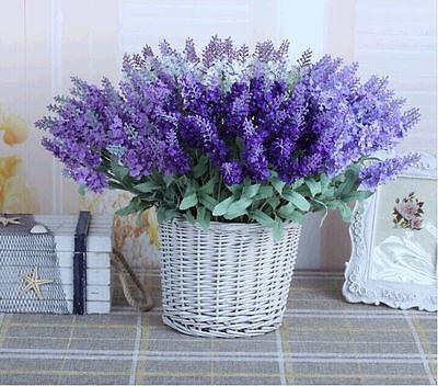 GRAU 1 Bouquet Artificial Lavender Silk Flower Decoration Party Wedding Garden