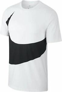 NIKE-Uomo-Sport-Fitness-T-shirt-tempo-libero-Maglietta-NIKE-NSW-TEE-HBR-BIANCO-NERO