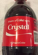 Share a COKE with Crystal 20 fl oz Collectible Bottle RARE Coca-Cola HTF Name