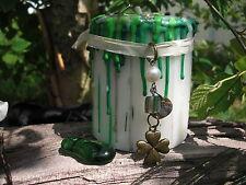Get GOOD LUCK WISH CANDLE 4 leaf clover 3 FREE Spells Lucky Charm Talisman Irish