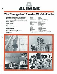 equipment brochure alimak construction hoists pump crane c1984 rh ebay com 120 Volt Hoist Motor Wiring 120 Volt Hoist Motor Wiring