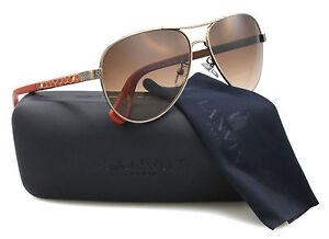 New-Lanvin-Sunglasses-Women-Aviator-SLN-037V-Orange-448X-SLN037V-59mm