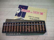 Vintage JAPANESE SOROBAN ABACUS - Manual and box