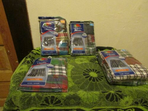BRAND NEW BOYS FRUIT OF THE LOOM 3 PK TARTAN PLAIDS BOXER UNDERWEAR SHORTS