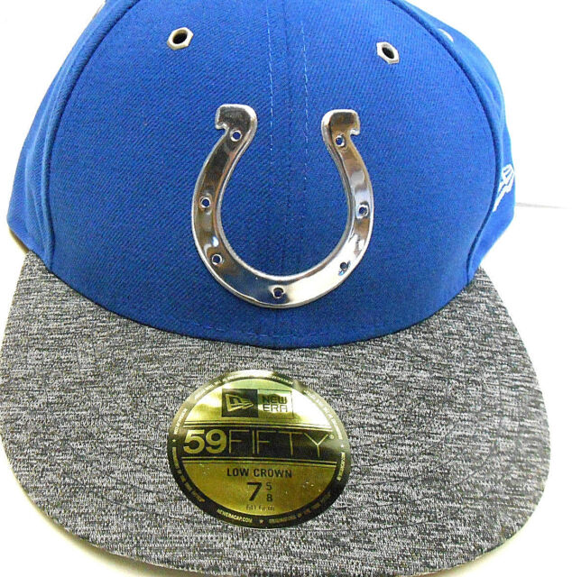 5e5249105 New ERA 59Fifty Indianapolis Colts Football 2016 Draft Day NFL Cap Hat 7 5 8