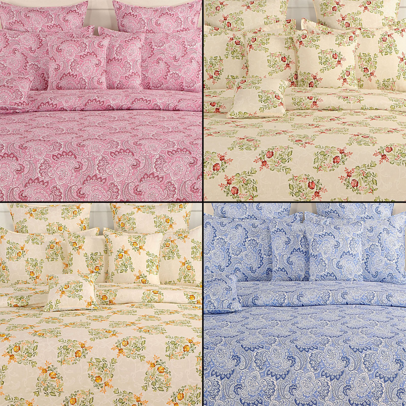 100% Cotton Home Decorative Elasticated Fitted Bed Sheet with Pillow Cover-1893