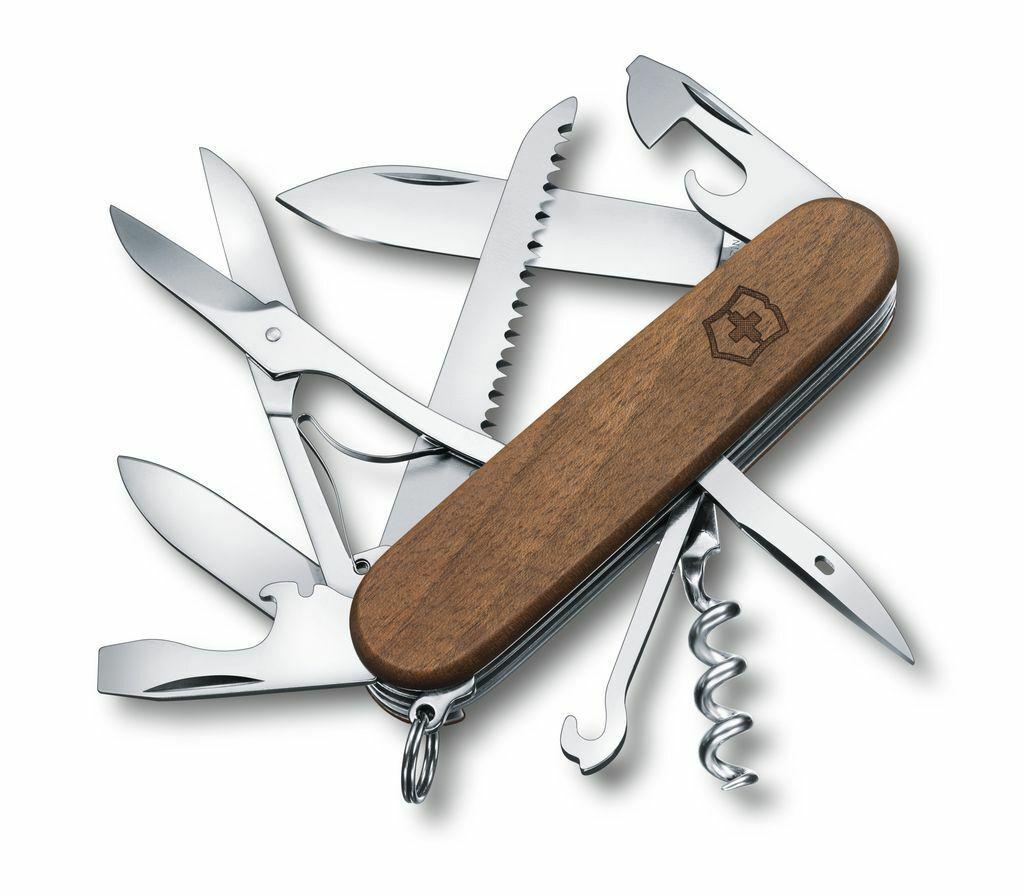Victorinox Taschenmesser, Huntsman Wood, 13 Funktionen, Nussbaumholz